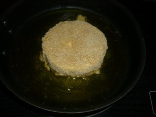 Camembert gebraten mit Preiselbeeren und Schlagsahne - Rezept - Bild Nr. 7