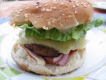 Verschieden belegte Hamburger - Rezept