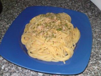 Spaghetti in Brunch-Garnelensoße - Rezept