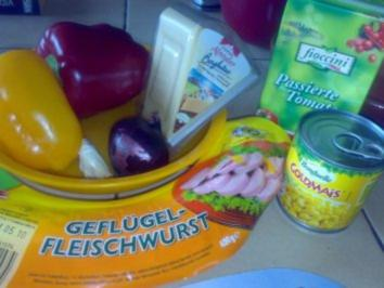 gespickte Fleischwurst - Rezept