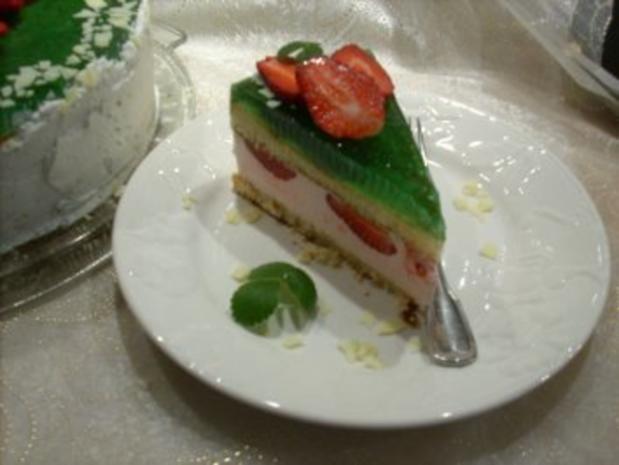 Erdbeer-Waldmeister-Torte - Rezept - Bild Nr. 5