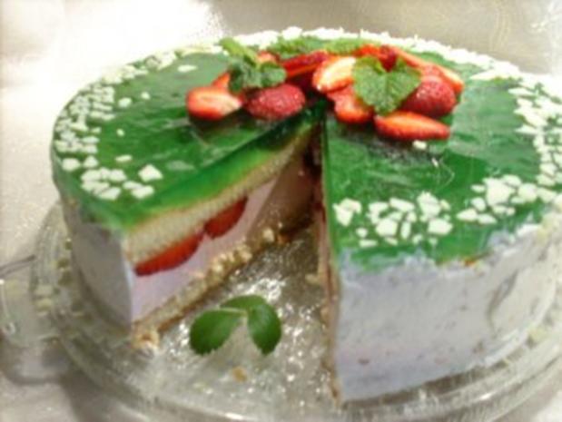 Erdbeer-Waldmeister-Torte - Rezept - Bild Nr. 2