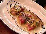 Gebeiztes Tunfischfilet an Orangen-Kapern-Soße - Rezept