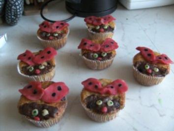 Marienkäfer Muffins - Rezept