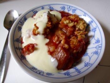 Dessert...Erdbeer-Rhabarber-Crisp - Rezept