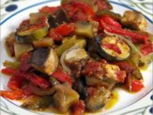 Gegrilltes Gemüse mit Nudeln - Rezept