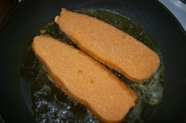 Fischfilet mit Kartoffelbrei u. Gurkensalat - Rezept - Bild Nr. 3
