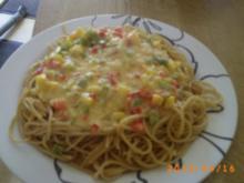 Mittagessen: Vollkornspaghetti mit Gemüsesoße - Rezept