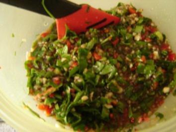 Kichererbsen-Kräuter Meze (süß-sauer-scharf) - Rezept