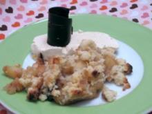 Applecrumble mit Vanilleparfait - Rezept