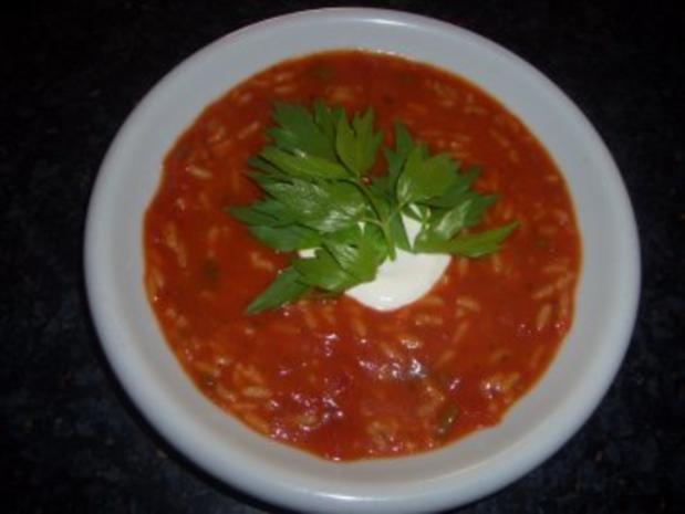 Tomatensuppe Brigitte suppen tomatensuppe mit reis maggikraut und crème fraîche