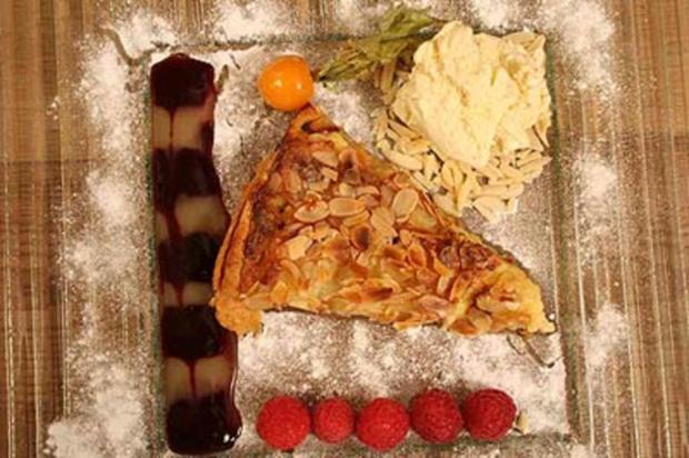 Birnentarte mit Vanilleeis - Rezept