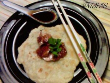 Geflügel/ Wild: Peking-Ente mit Mandarin-Pfannkuchen und  Dip - Rezept