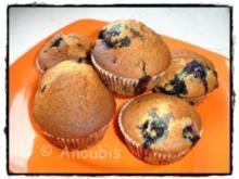 Kuchen/Gebäck - Heidelbeer-Bananen- Muffins - Rezept