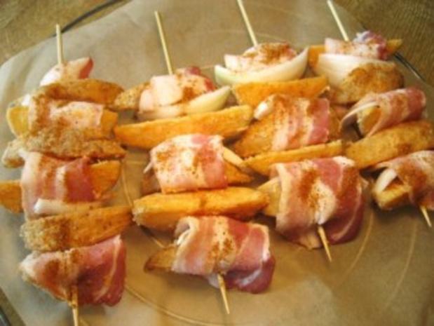 Herzhafte Kartoffel-Spieße ... - Rezept - Bild Nr. 3