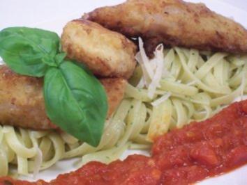 Piccata vom Seeteufel auf Bärlauchpasta an Tomatenmarmelade - Rezept