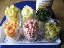 Sieben-kleine Gläser-Salat ... - Rezept
