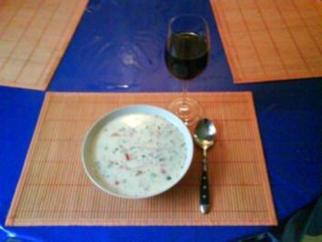 Suppe: Scharfe Buchstabensuppe - Rezept
