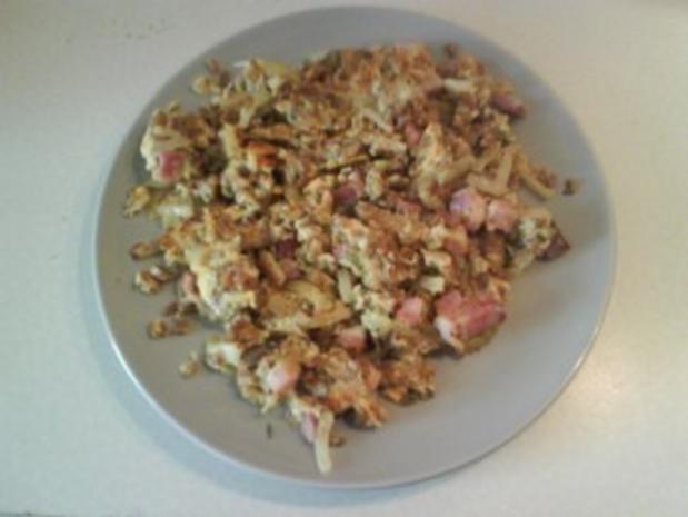 Eier: Gebratener Grünkern mit Ei und Speck - Rezept - Bild Nr. 7