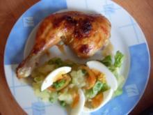 Hähnchenkschenkel süß/sauer - Rezept