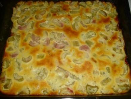 Rhabarberkuchen mit Quarkguss - Rezept