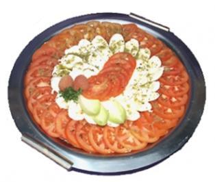 Mozzarella auf Tomaten Caprese - Rezept