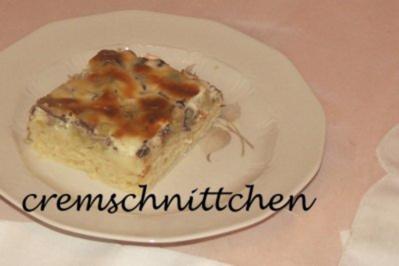 Rhabarberkuchen mit Mascarpone - Dickmannscreme - Rezept