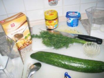 Dill-Gurken-Würfel - Rezept
