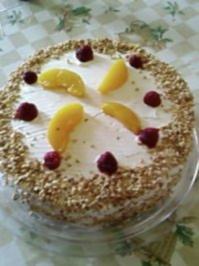 Torte : Pfirsich - Melba - Torte - Rezept