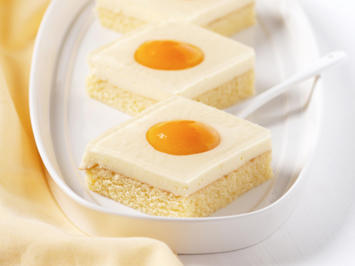 Rezept: Backen: Quark-Spiegelei-Kuchen