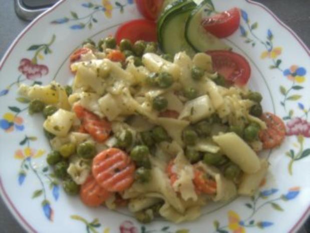 Gemüse - Nudel -Pfännchen-  Ein ganz schnelles Essen- - Rezept