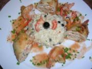 Tintenfischtuben gefüllt mit Krebsfleisch (sehr lecker und butterweich) - Rezept