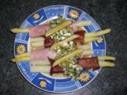 Spargel mit Bündner Fleisch, Prosciutto und Vinaigrette - Rezept