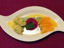 Pistaziencreme im Fruchtspiegel mit Orangenfilets - Rezept - Bild Nr. 9