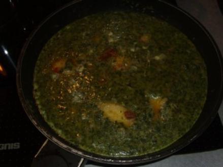 Pfannengerichte: Klos-Spinat-Tortilla - Rezept