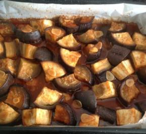 Auberginen in Chilli - Honig - Knoblauch - Rezept