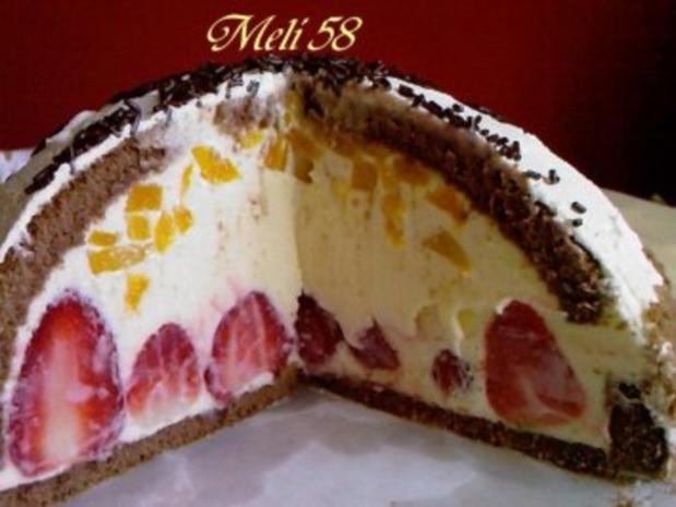 Backen: Erdbeer-Pfirsich-Kuppeltorte - Rezept