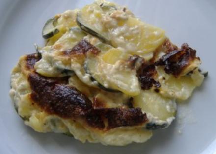 Kartoffel-Zucchini-Gratin - Rezept