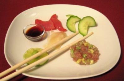 Sashimi und Tunfisch-Tatar - Duo vom Tunfisch - Rezept