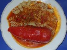 Fleischgericht - Gefüllte Paprika Bolognese-Art - Rezept