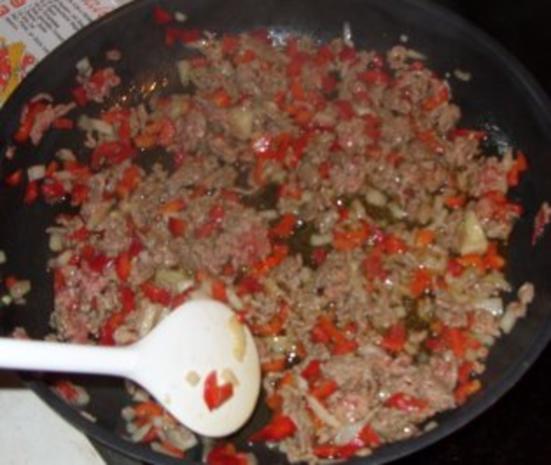 Fleischgericht - Gefüllte Paprika Bolognese-Art - Rezept - Bild Nr. 4