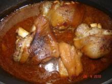 Fleisch : Schweinshaxe in Biersoße - Rezept