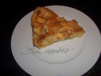 Kuchen : Apfelkuchen mit Calvados - Rezept