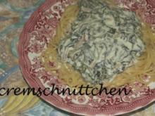 Spinat - Käse - Spaghetti - Rezept