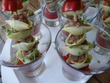 Rezept: GLASFOOD 10:Thunfischtatar in Müscheli auf Paprikagelee