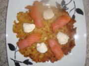 Kartoffelgerichte: Kartoffelpuffer mit Lachs - Rezept