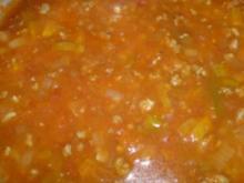 Hackfleisch-Soße schmeckt lecker zu Spaghetti - Rezept