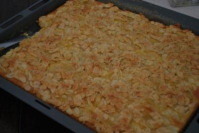Schneller Apfelkuchen vom Blech - Rezept