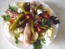 Salat mit gerollten Schinkenspeck - Rezept