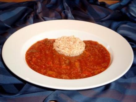 Rote GLYX-Suppe mit Reis - Rezept